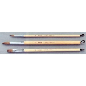KUMANO Water Color Brush of Hinoki Cypress from Forest Thinning Set 3 Types