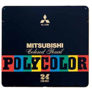 MITSUBISHI Colored Pencil Polycolor No.7500 24 Color Set