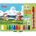 Pentel Crayon 12 Color Set