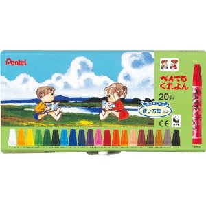 Pentel Crayon 20 Color Set
