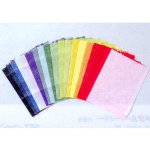 Unryu Japanese paper, Octavo format (about 21.5 to 16.5 cm) 20 color set